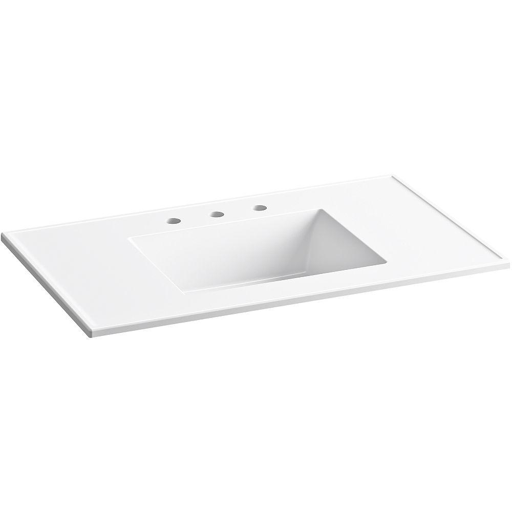 KOHLER Ceramic/Impressions 37 inch Rectangular Vanity-Top Bathroom Sink in White