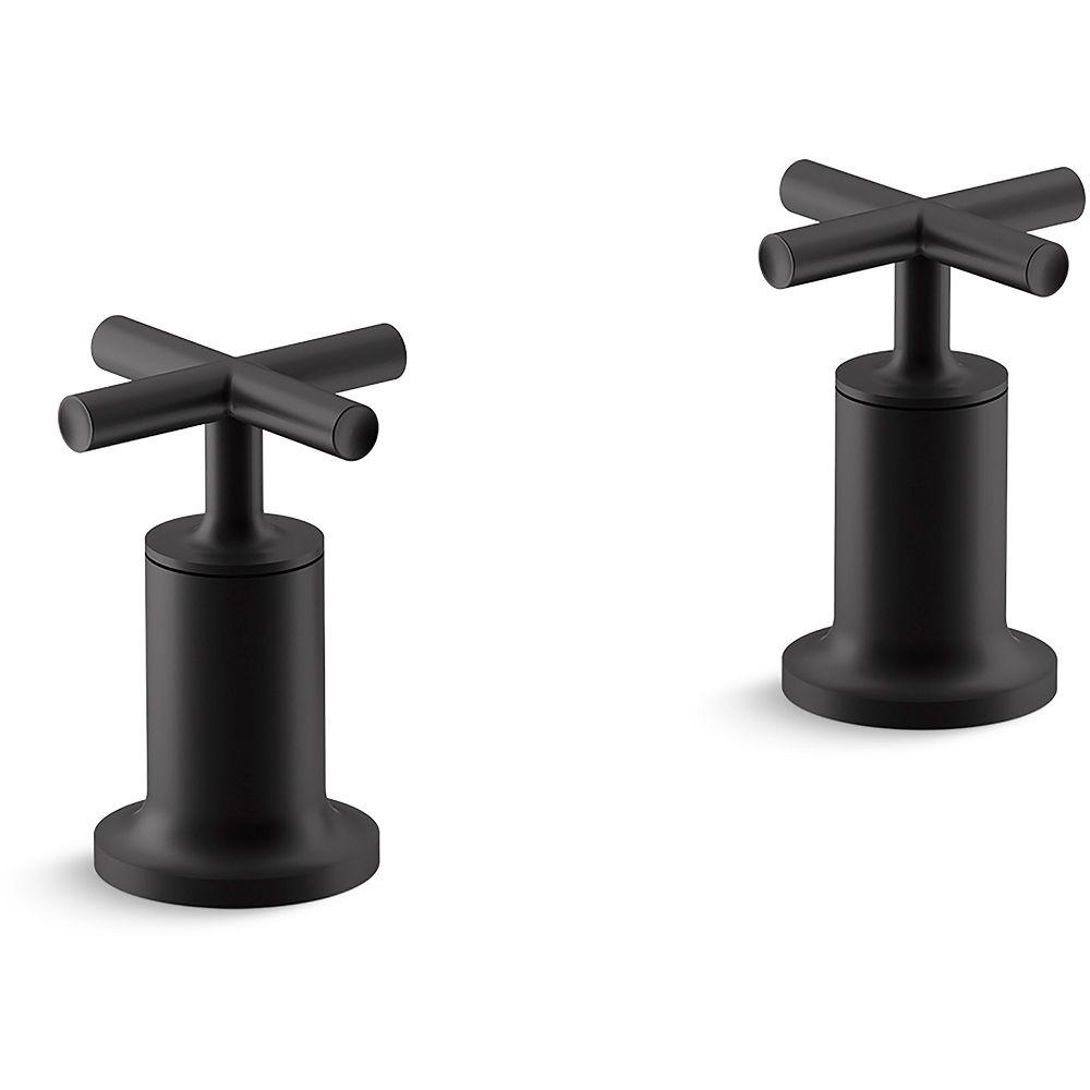 KOHLER Robinetterie de baignoire a haut debit Purist, montage au mur ou en surface en Noir mat