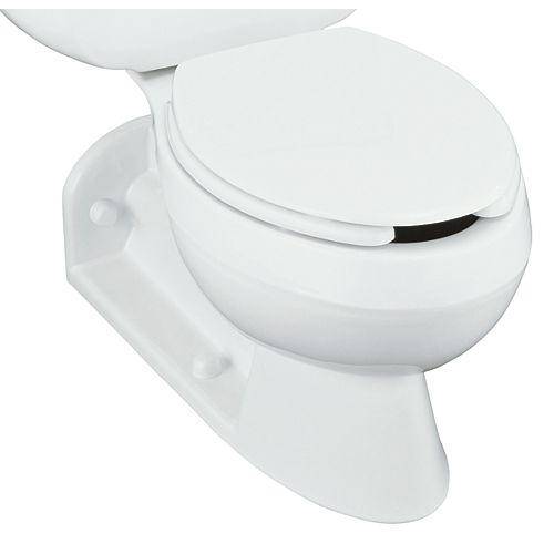 Barrington Elongated Rear Outlet Toilet Bowl with Antimicrobial Finish, Less Seat