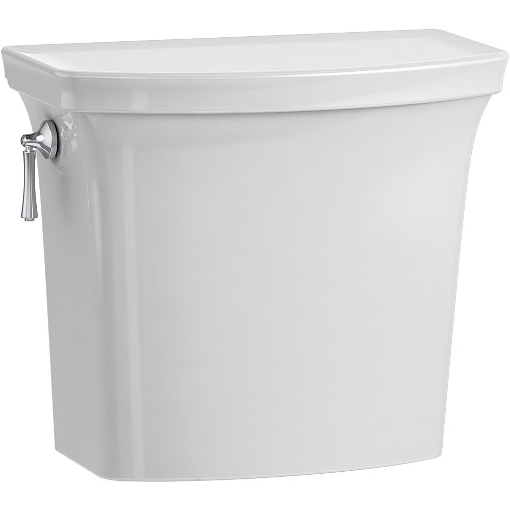 KOHLER Corbelle with Continuousclean 1.28 gpf Toilet Tank with Aquapiston Flush Technology in Ice Grey
