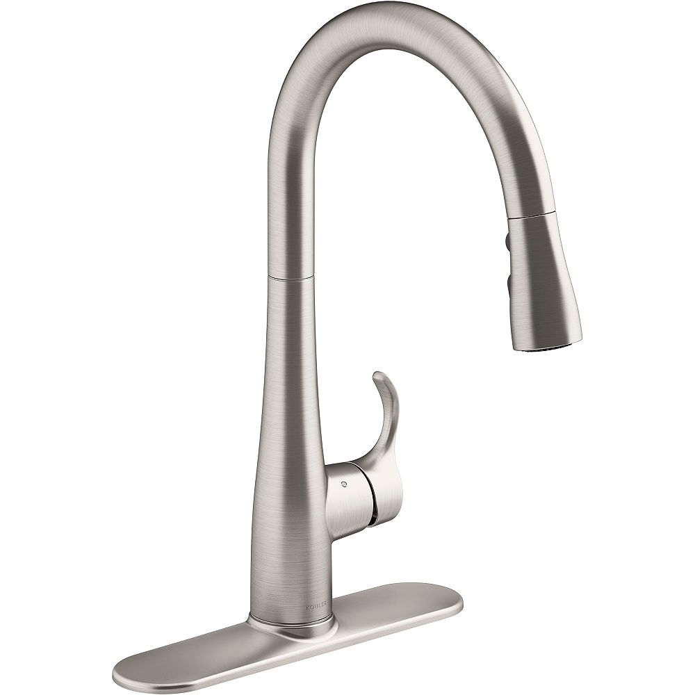 Kohler Simplice Touchless Pull Down Kitchen Sink Faucet The Home Depot Canada