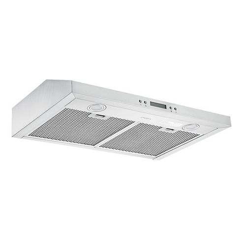 Ancona Slim SHD30 30-inch 325 CFM Ducted Under Cabinet Range Hood in Stainless Steel