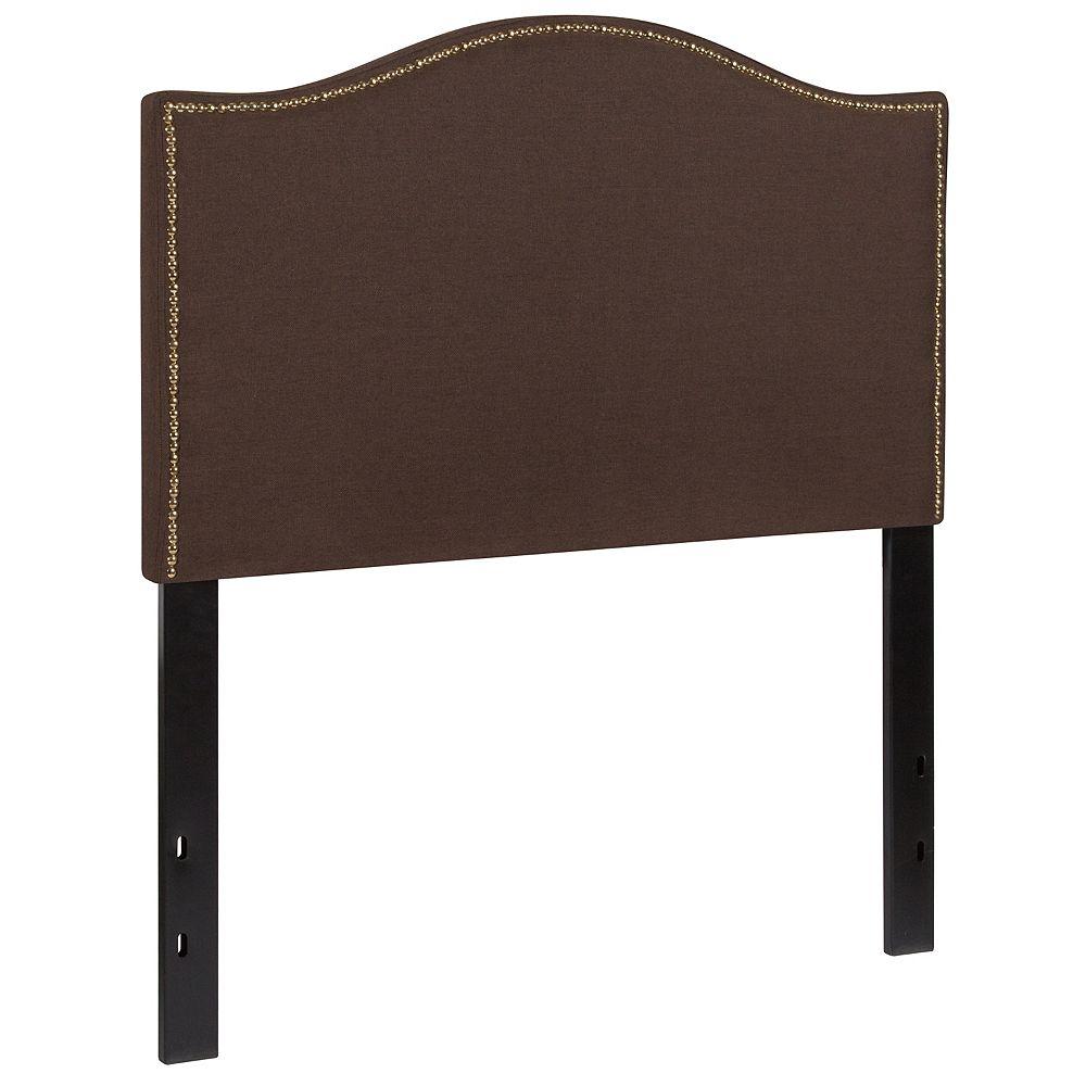 Flash Furniture Twin Headboard-Brown Fabric