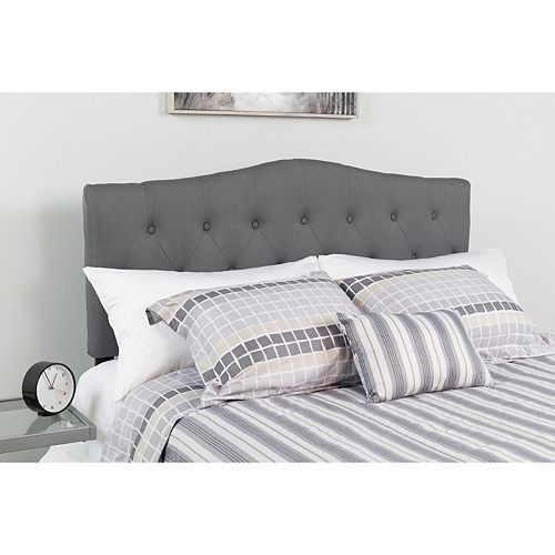 Queen Headboard-Gray Fabric
