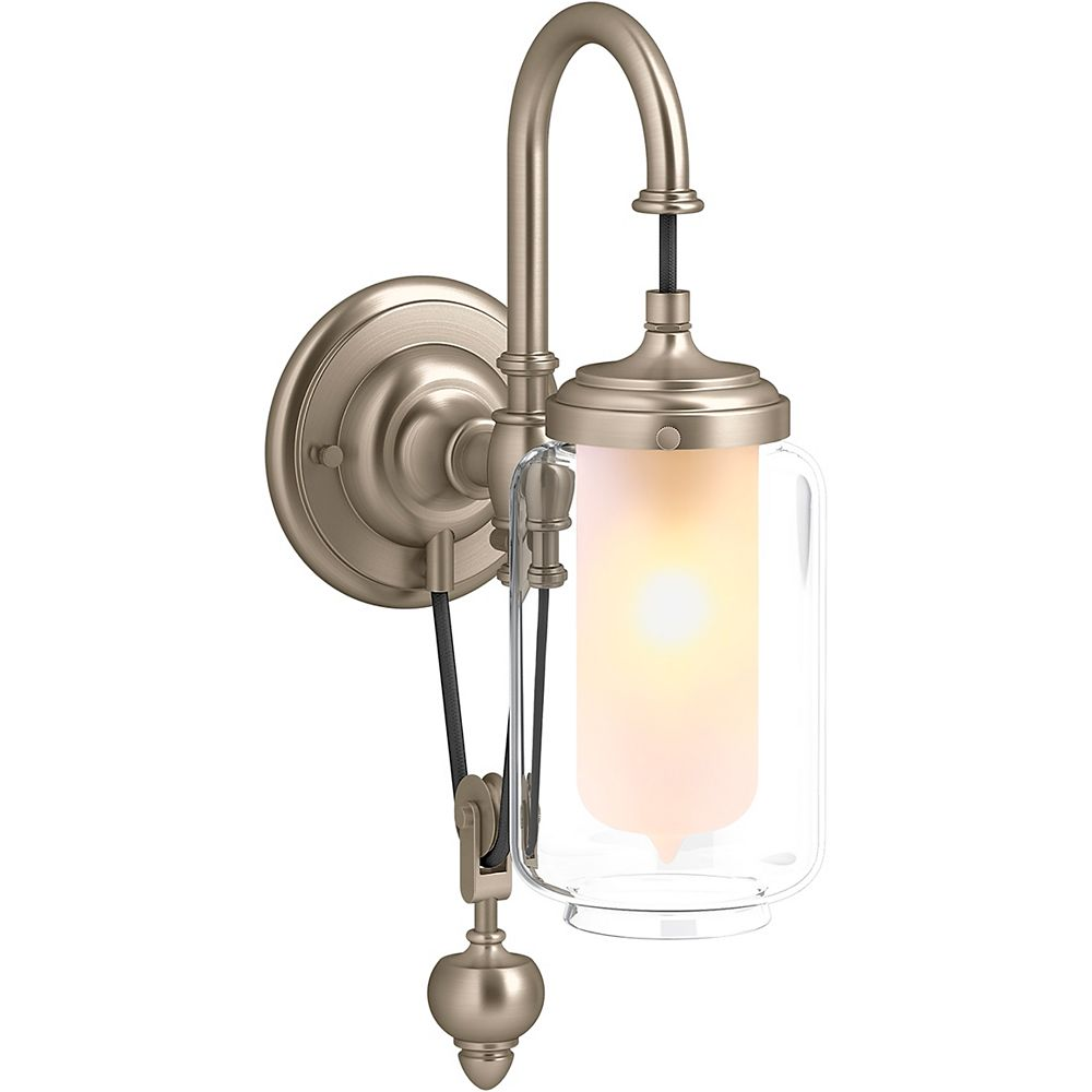 KOHLER Artifacts Single Wall Sconce with Adjustable Cord in Vibrant Brushed Bronze