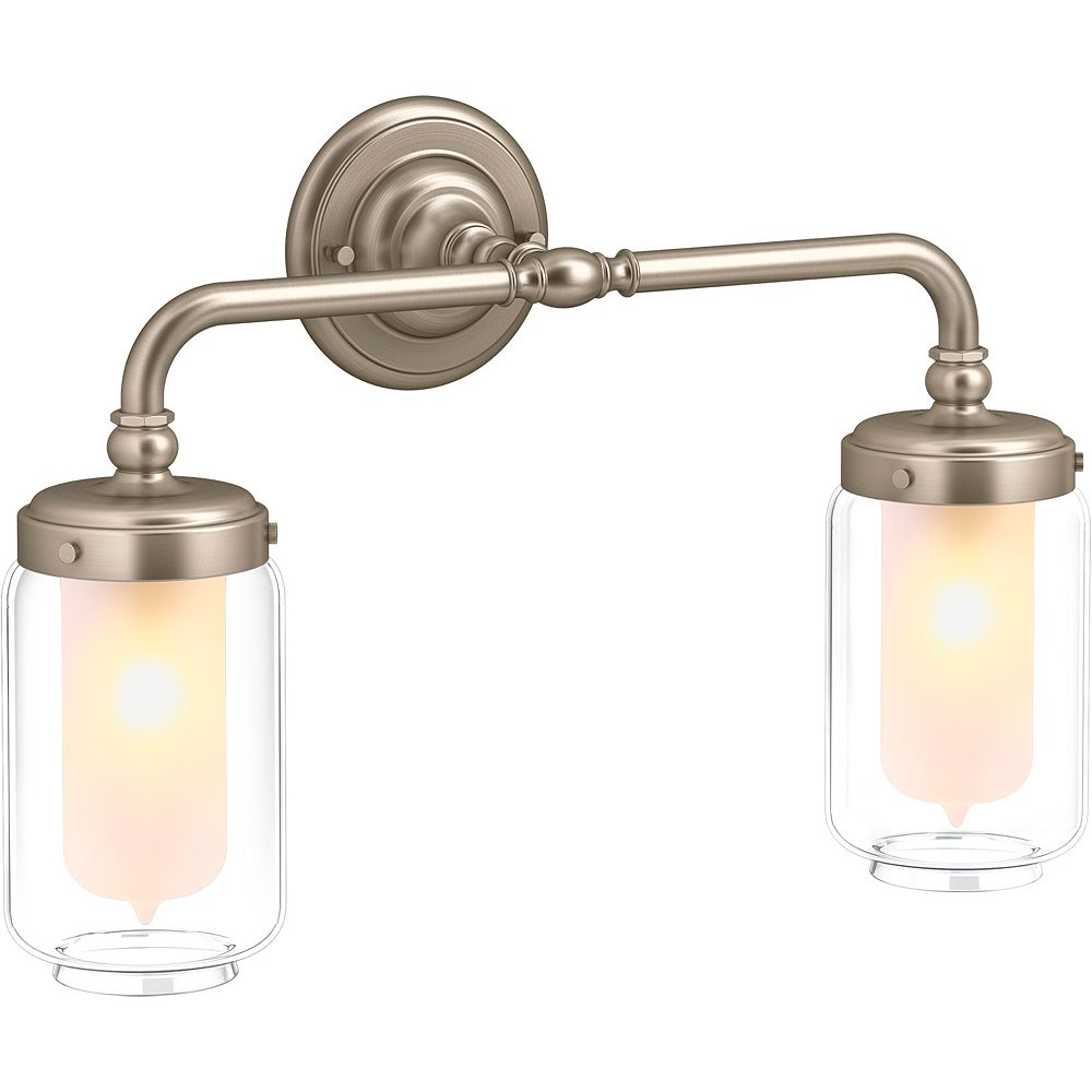 KOHLER Artifacts Double Wall Sconce in Vibrant Brushed Bronze