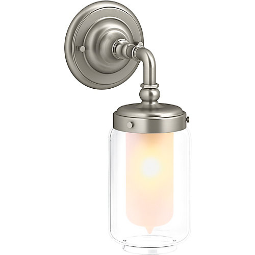 Artifacts Single Wall Sconce in Vibrant Brushed Nickel