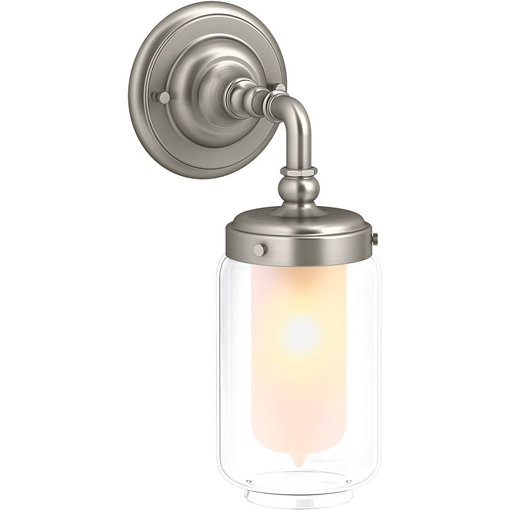 KOHLER Artifacts Single Wall Sconce in Vibrant Brushed Nickel