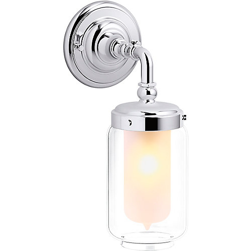 Artifacts Single Wall Sconce in Polished Chrome