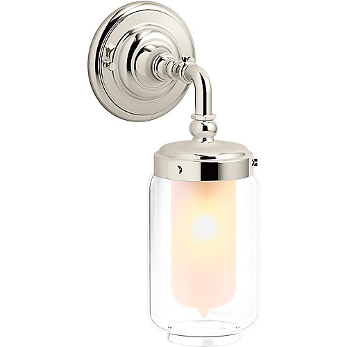 Artifacts Single Wall Sconce in Vibrant Polished Nickel