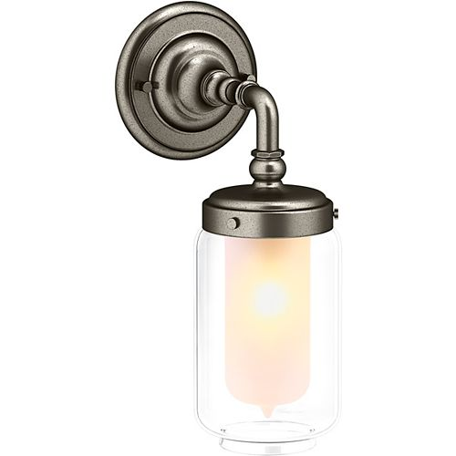 Artifacts Single Wall Sconce in Vintage Nickel