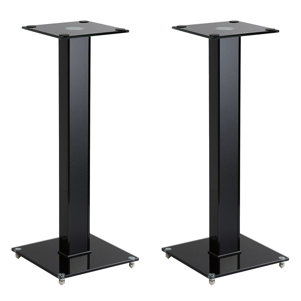 "MPM-10-S 10"" Gloss Black Fixed Height Speaker Stand, Set of 10"