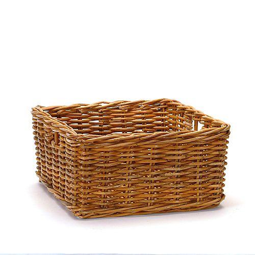 Square Honey Rattan Storage Basket