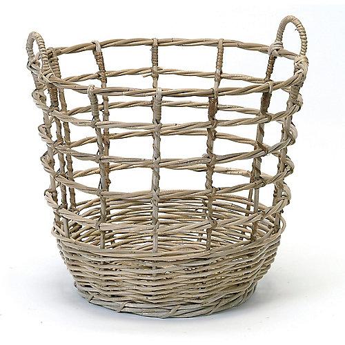Open Weave Rattan Basket