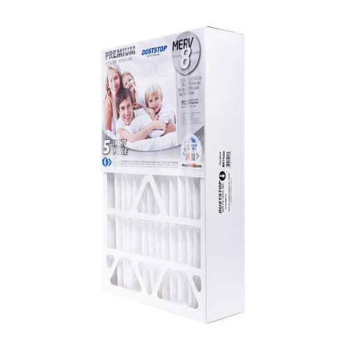 15-3/8 x 25-1/2 x 5-1/4 MERV 8 Premium filter pack of 4 filters