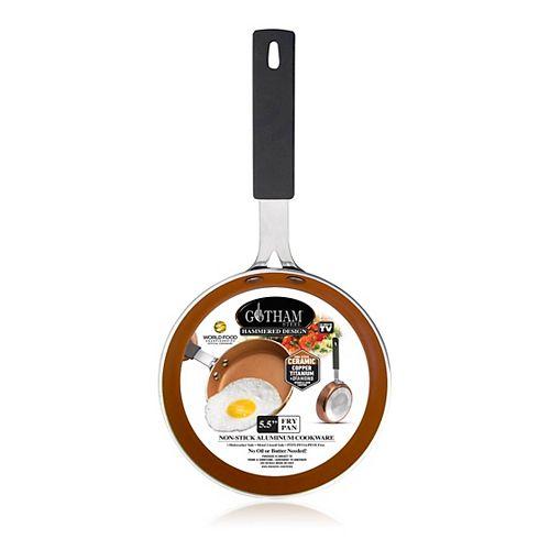 Gotham Steel 5.5 In. Premium Hammered Copper NonStick Ti Ceramic Fry Pan
