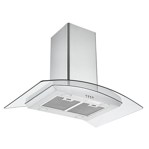 Glass Canopy IGCC636 36 in. Convertible Island Glass Range Hood in Stainless Steel