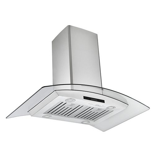 Glass Canopy IGCB636 36 in. 620 CFM  Convertible Island Range Hood in Stainless Steel
