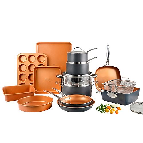 Gotham Steel 20 Piece Non Stick Ti Ceramic Cookware and Bakeware Set