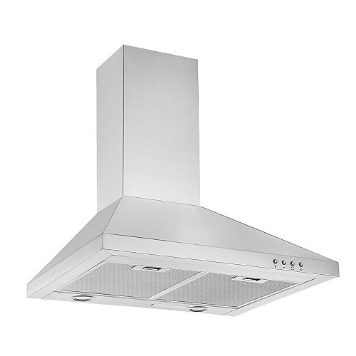 Ancona WPP424 24-inch 450 CFM Convertible Wall-Mount Range Hood in Stainless Steel
