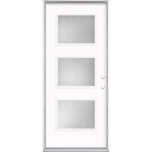 Masonite 36-inch x 80-inch x 4-9/16-inch 3 Lite Equal Left Hand Exterior Pre hung Door
