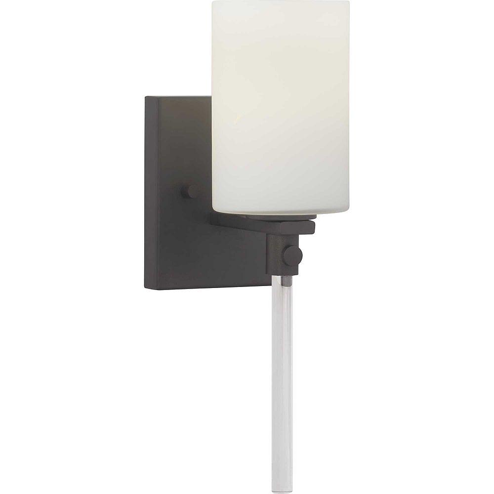 Progress Lighting Luminaire à une lumière pour salle de bain et coiffeuse, collection Lisbon - fini noir