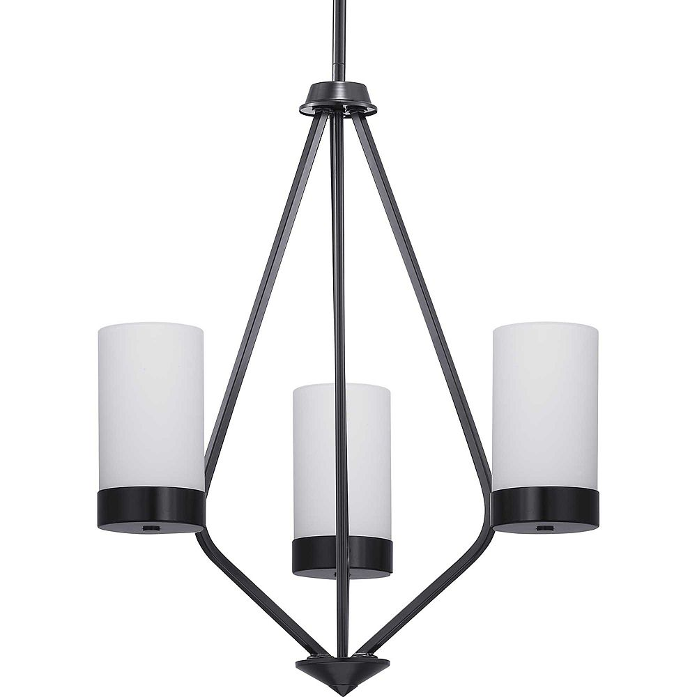 Progress Lighting Elevate Three-Light Chandelier with Etched glass