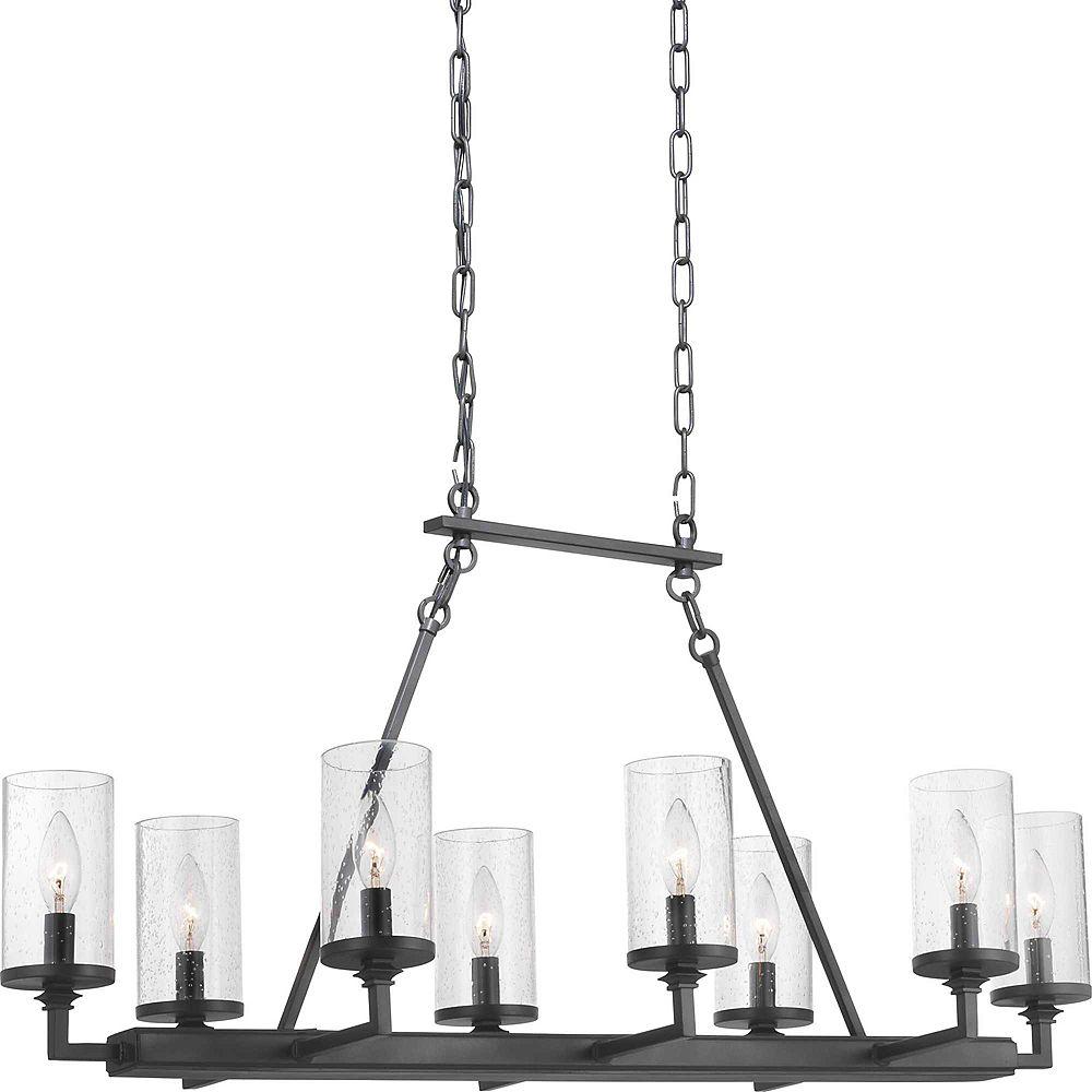 Progress Lighting Lustre à huit ampoules Gresham avec verre germe