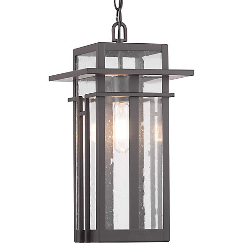Boxwood One-Light Hanging Lantern with Clear Seeded glass