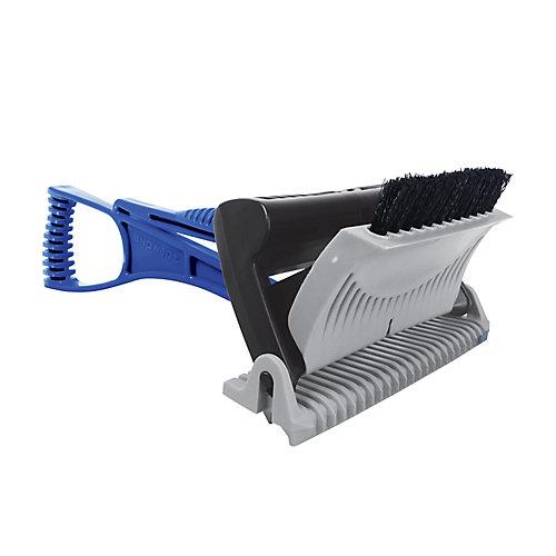 Ice Dozer Ice and Snow Scraper w/ Ice Breaking Teeth + Bristle Brush Attachment