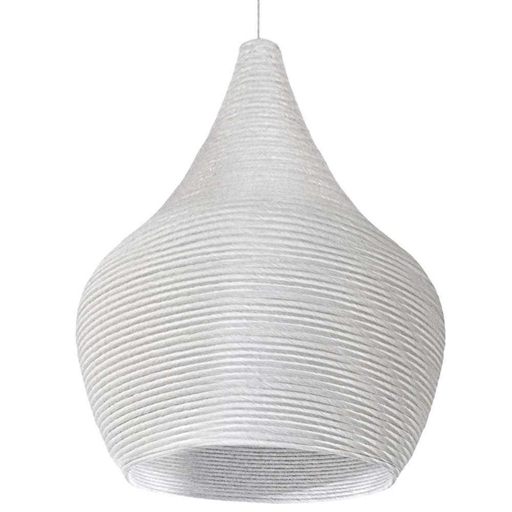 Dainolite Luminaire suspendu à 1 lumière fini blanc
