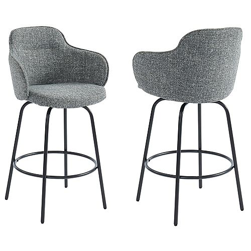 26-inch Counter Stool-Set of 2, Grey