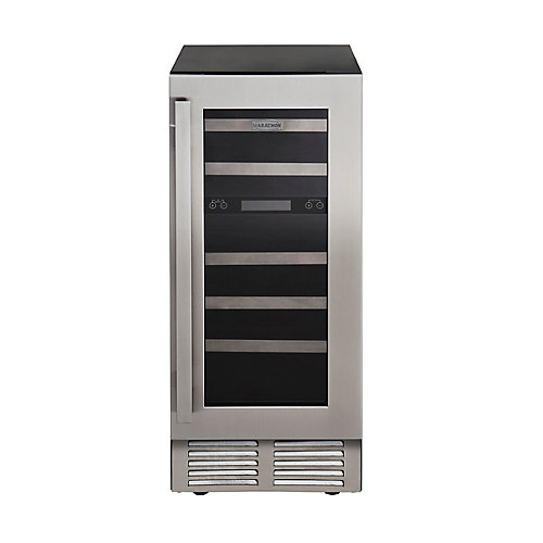 15 inch. Dual Zone Built-in Stainless Steel Wine Cooler