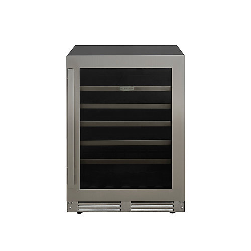 24 inch. Stainless Steel Built-In Convertible Beverage & Wine Cooler