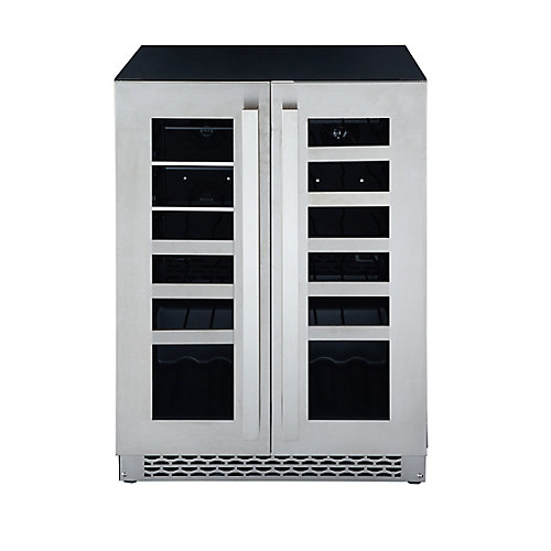 24 Inch. Stainless Steel French Door Beverage Centre