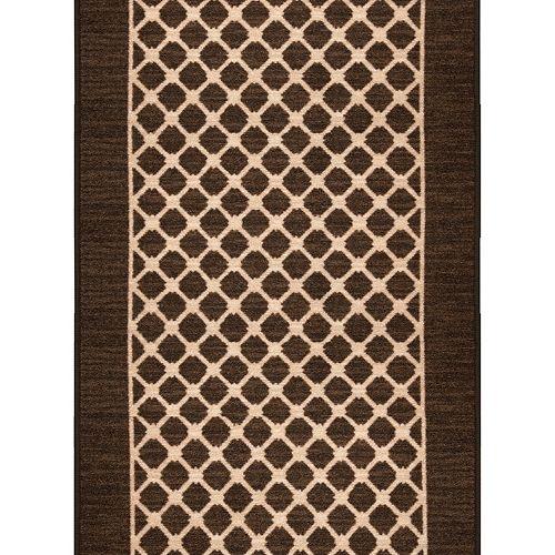Chemin de tapis décoratif Malvern taupe de 26 po vendu au mètre