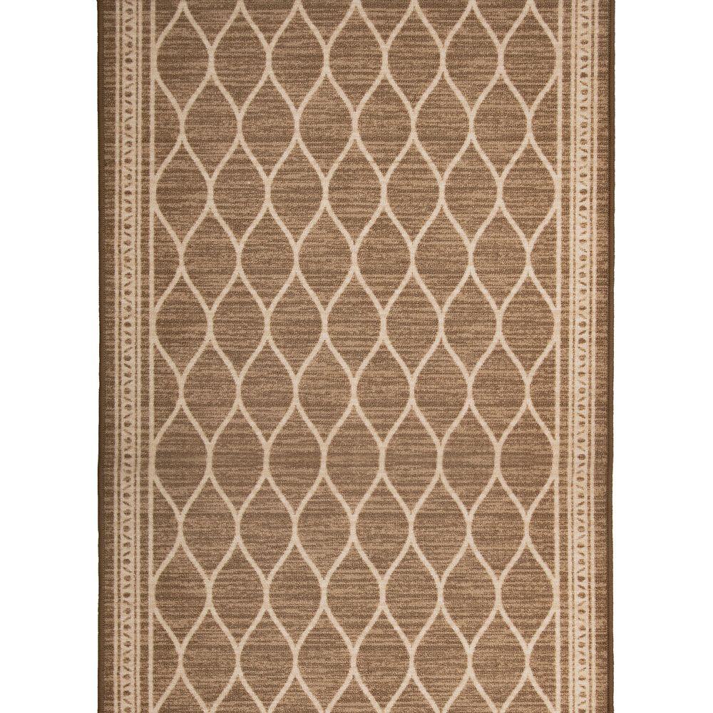 Multy Home Chemin de tapis décoratif Clarion brun de 36 po vendu au mètre