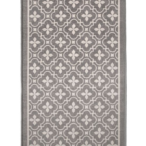 Jinnah Grey 36-inch x Custom Length Decorative Runner