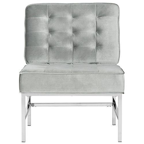 Ansel Polyester Accent Chair in Light Gray
