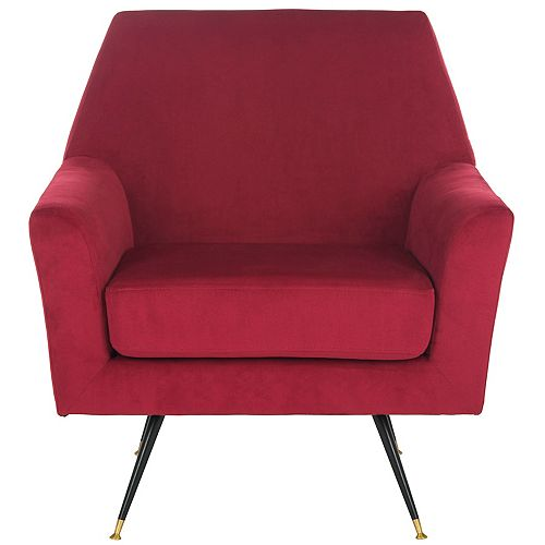 Nynette Polyester Accent Chair in Maroon