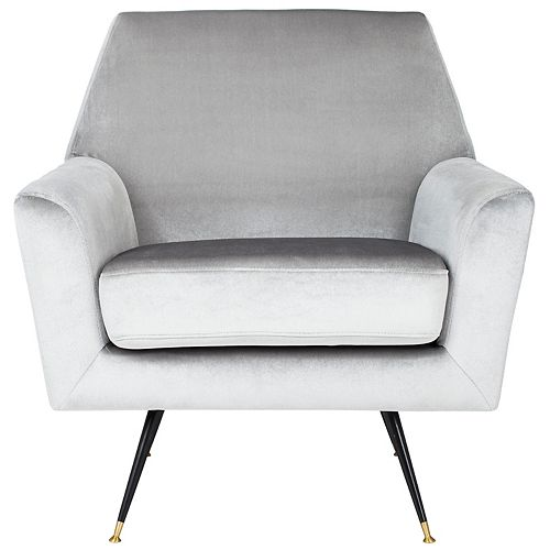 Nynette Polyester Accent Chair in Light Gray