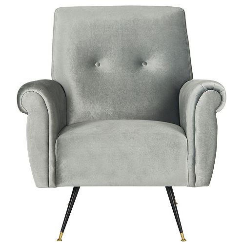 Mira Polyester Accent Chair in Light Gray