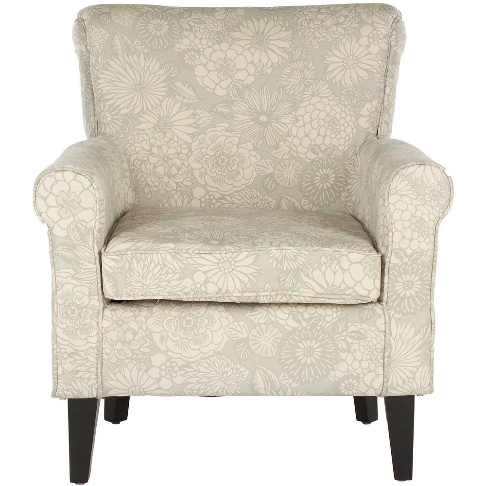 Safavieh Hazina Polyester/Cotton Club Chair in Abbey Mist