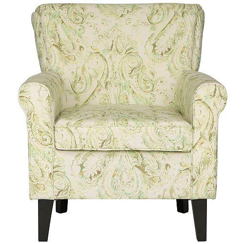Hazina Viscose/Linen Club Chair in Gray