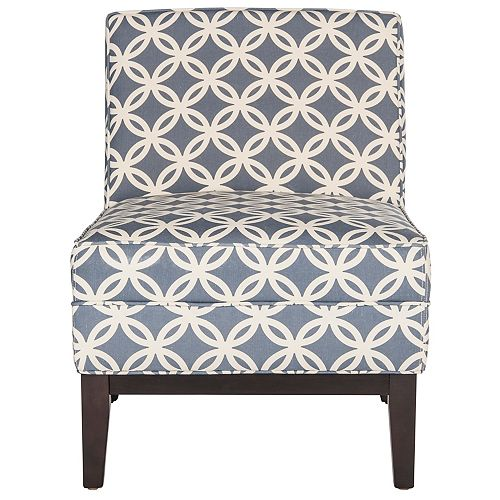 Armond Viscose/Linen Accent Chair in Blue