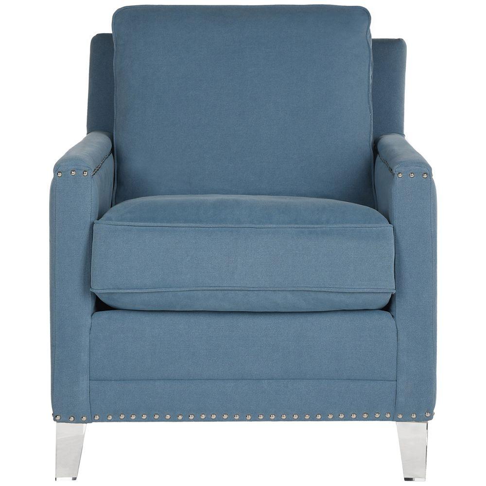 Safavieh Chaise Club Preston en Bleu / Clair