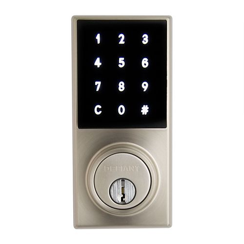 Defiant Slim Touch Satin Nickel Touchscreen Deadbolt