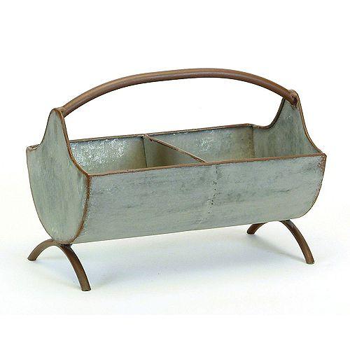 Galvanized Tabletop Caddy