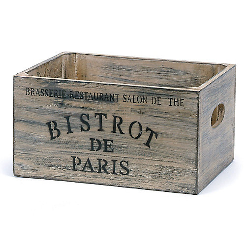 French Bistro Wood Crate