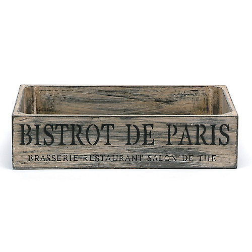boîte bistro bas en bois